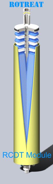 Rotreat disc tube module technology- RCDT module